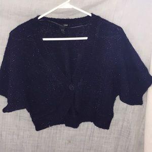 H&M purple sweater shrug.